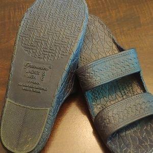 Navy grandco slippers